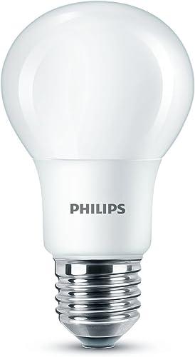 Philips LED Leuchtmittel, Synthetisch, Weißes Licht, Einzelpackung, E27