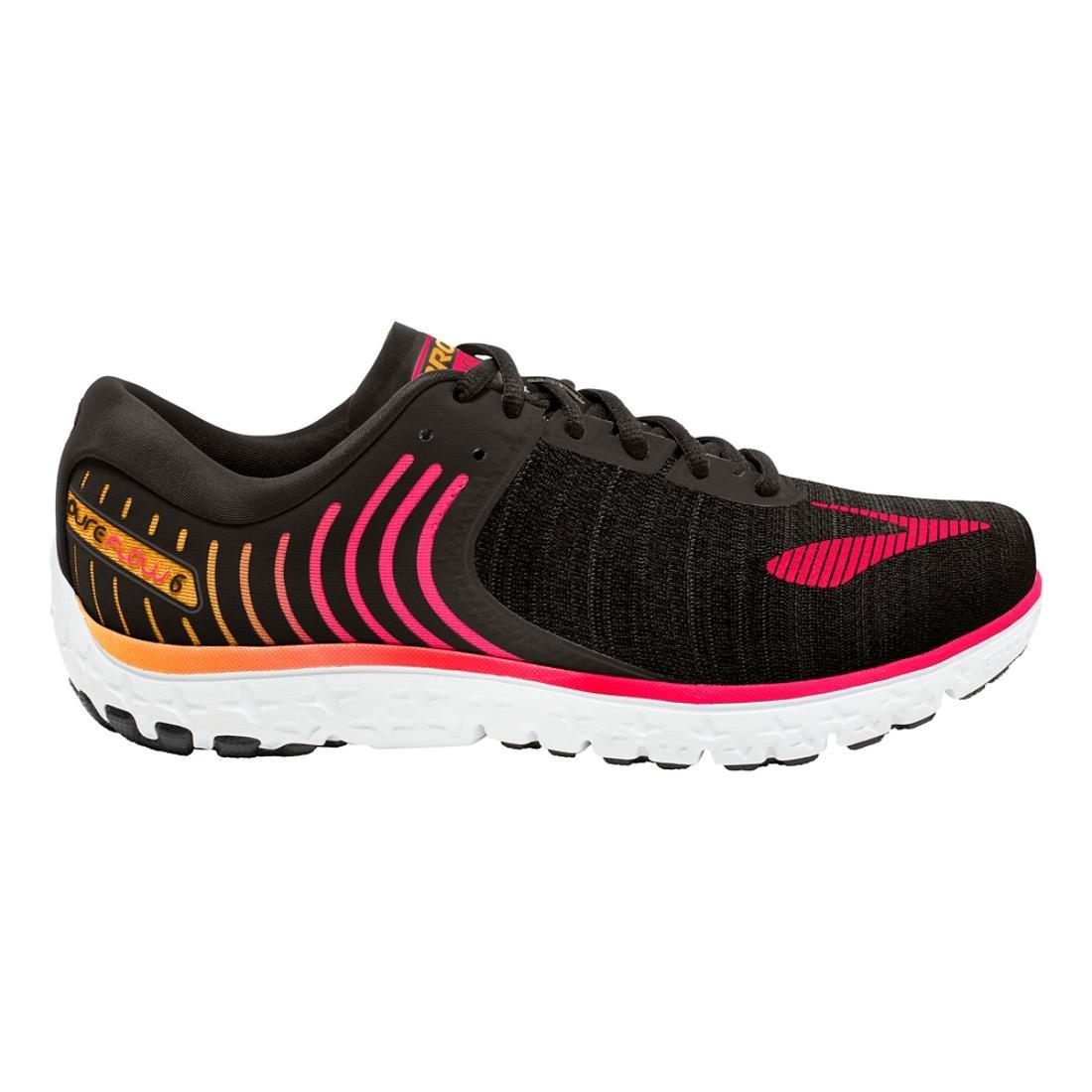 58eaf98676411 Brooks Women s PureFlow 6 Black Diva Pink Orange Pop Athletic Shoe  Amazon.in   Shoes   Handbags