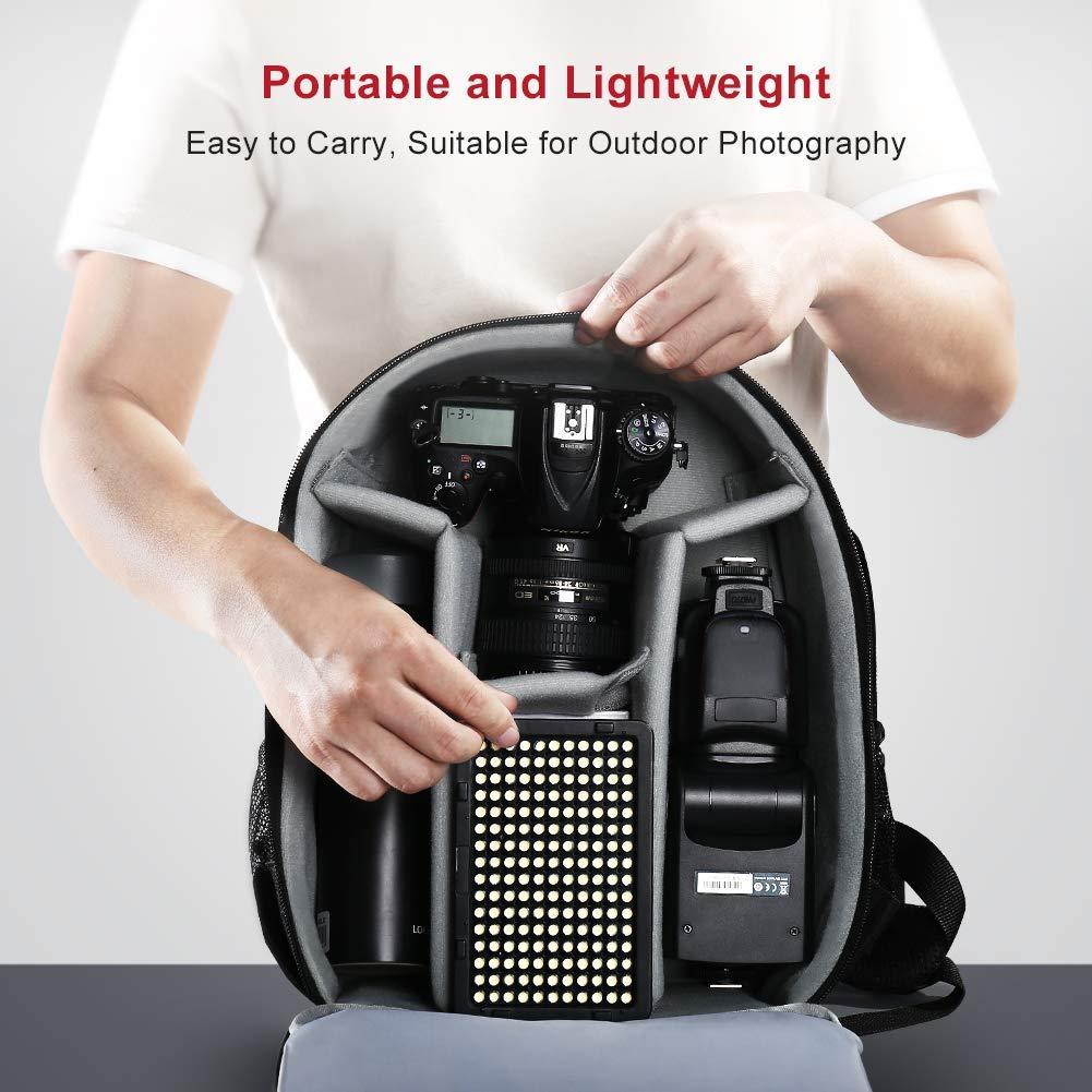 Sony Olympus y Todas Las C/ámaras DSLR Nikon Samsung LTPAG Luz de Video LED Pentax Luz de Panel de C/ámara Regulable Ultra Brillante 176 LED Port/átil para Canon Panasonic
