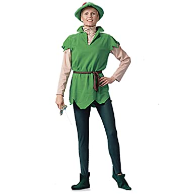 forum novelties peter pan adult halloween costume size 4 10 standard