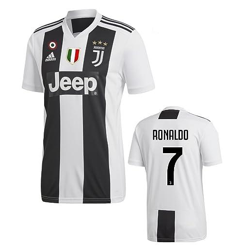 12b90e3600e2d7 Juventus Maglia Ronaldo Home 2018-19 Adidas Adulto e Bambino: Amazon ...