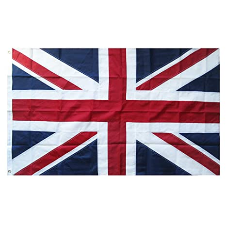 5011998c6 Lixure UK Flag 3x5FT United Kingdom British Flag-Embroidered Sewn Stripes National  Flags-4