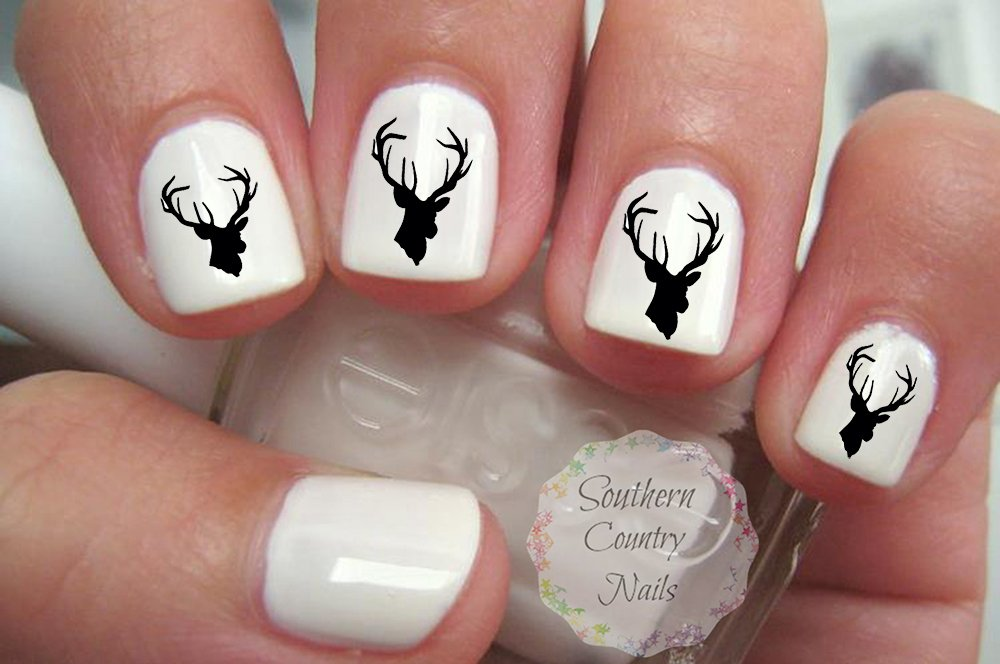 Amazon.com : Deer Head Nail Art Decals : Beauty