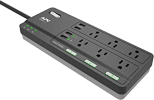 APC Smart Plug Surge Protector Power Strip, 3 Alexa Smart Plugs, 6 Outlets Total with 2160 Joules of Surge Protection,...