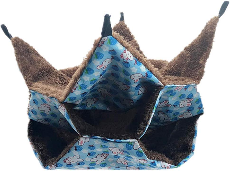 Lanceasy 3 Capas hámster Hamaca Colgante Laberinto Diseño Conejo Larga Caliente del paño Grueso y Suave Cama Nido erizos