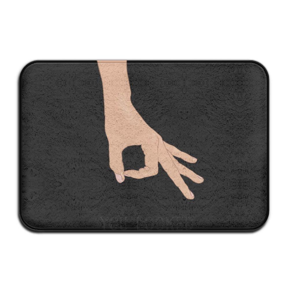 Circle Finger Game Doormat Entrance Mat Floor Mat Rug Indoor/Outdoor/Front Door/Bathroom Mats Rubber Non Slip ZUODIDIANDE