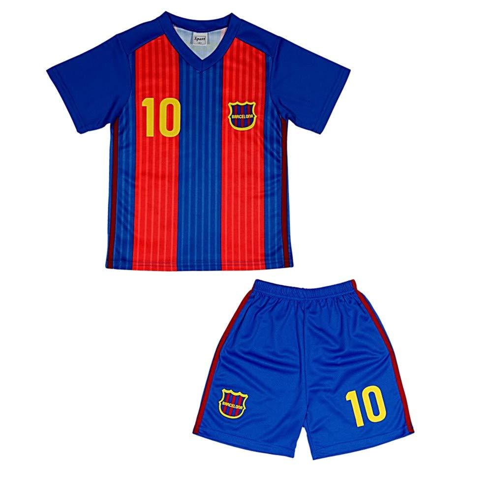 Ensemble Short et Maillot de Foot Barcelone Enfant Taille de 4 à 14 Ans NPZ
