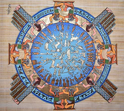 Ancient Egyptian Calendar - Original Water Color on Papyrus Paper