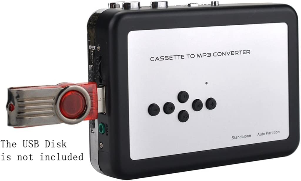 Y&H Cassette Tape Player Record Tape to MP3 Digital Converter,USB Cassette Capture,Save to USB Flash Drive Directly,No Need Computer