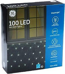 5 ft x 4 ft. GE Christmas StayBright LED 100 lt. 5.5mm Net Light