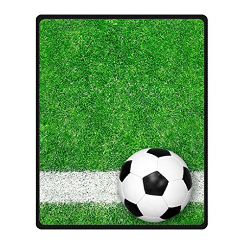 Hot Kitchen Custom Soccer Machine Washable Fleece Throw Blanket 40