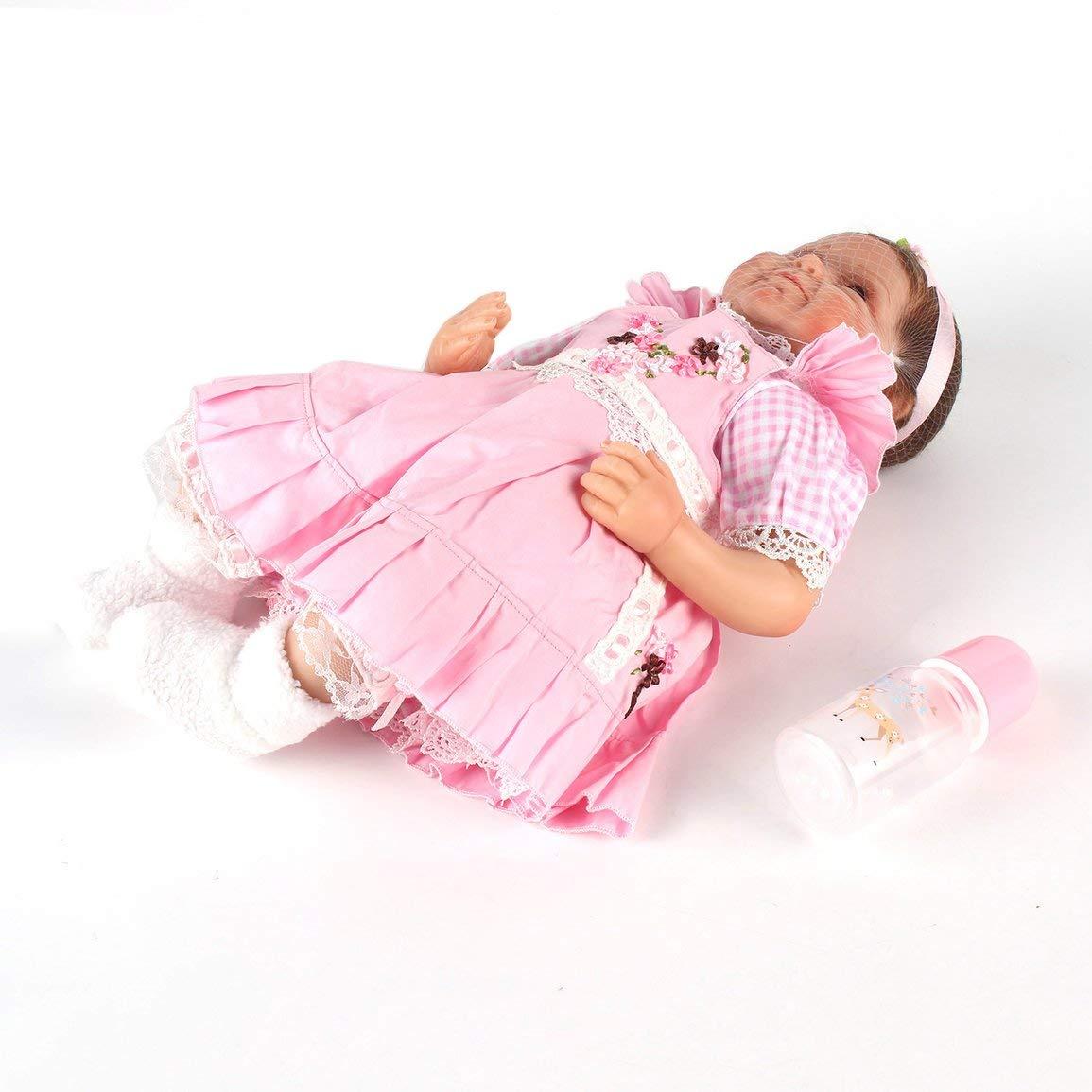 Fantasyworld Fantasyworld Fantasyworld Mädchen Lächeln Realistische Naturgetreue Silikon Reborn Neugeborenes Baby Doll Re-Alike Play House Toy Exquisite Geburtstagsgeschenk 4f3930