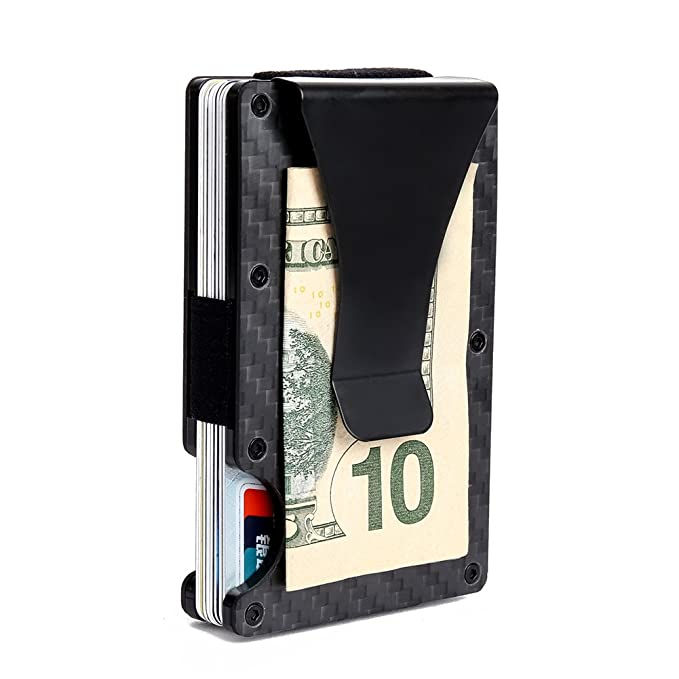 Slim Money Clip Metal Wallet RFID Front Pocket Wallet