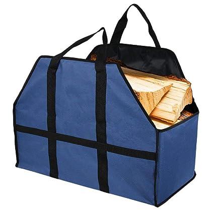Sunris leña bolsa madera Log Carrier Bolsa de gran capacidad Fuerte y Duradera de leña para