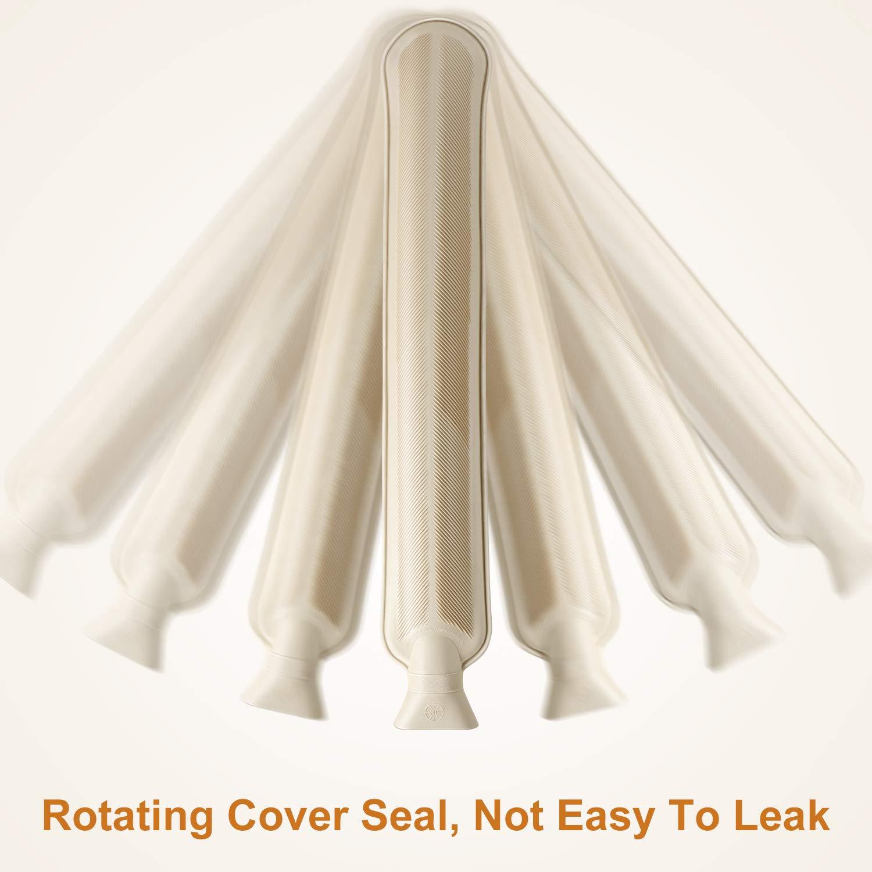 Bolsa de agua caliente con funda suave Homealexa BS1970:2012 2 L, 73 x 13 cm, certificado para cuello y hombros