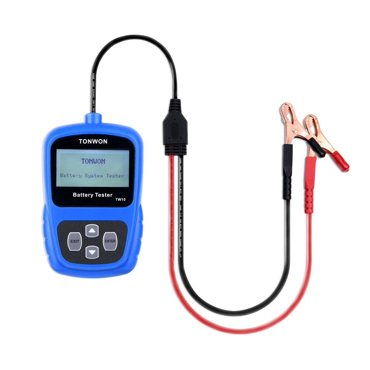 TONWON probador de la batería del coche 12V de la batería probador de carga de la batería de arranque automático de tensión y de carga analizador de ...