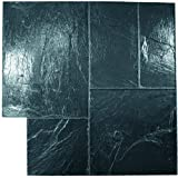 MARSHALLTOWN The Premier Line MABLACK 36-Inch by 36-Inch Black Majestic Ashlar Mat