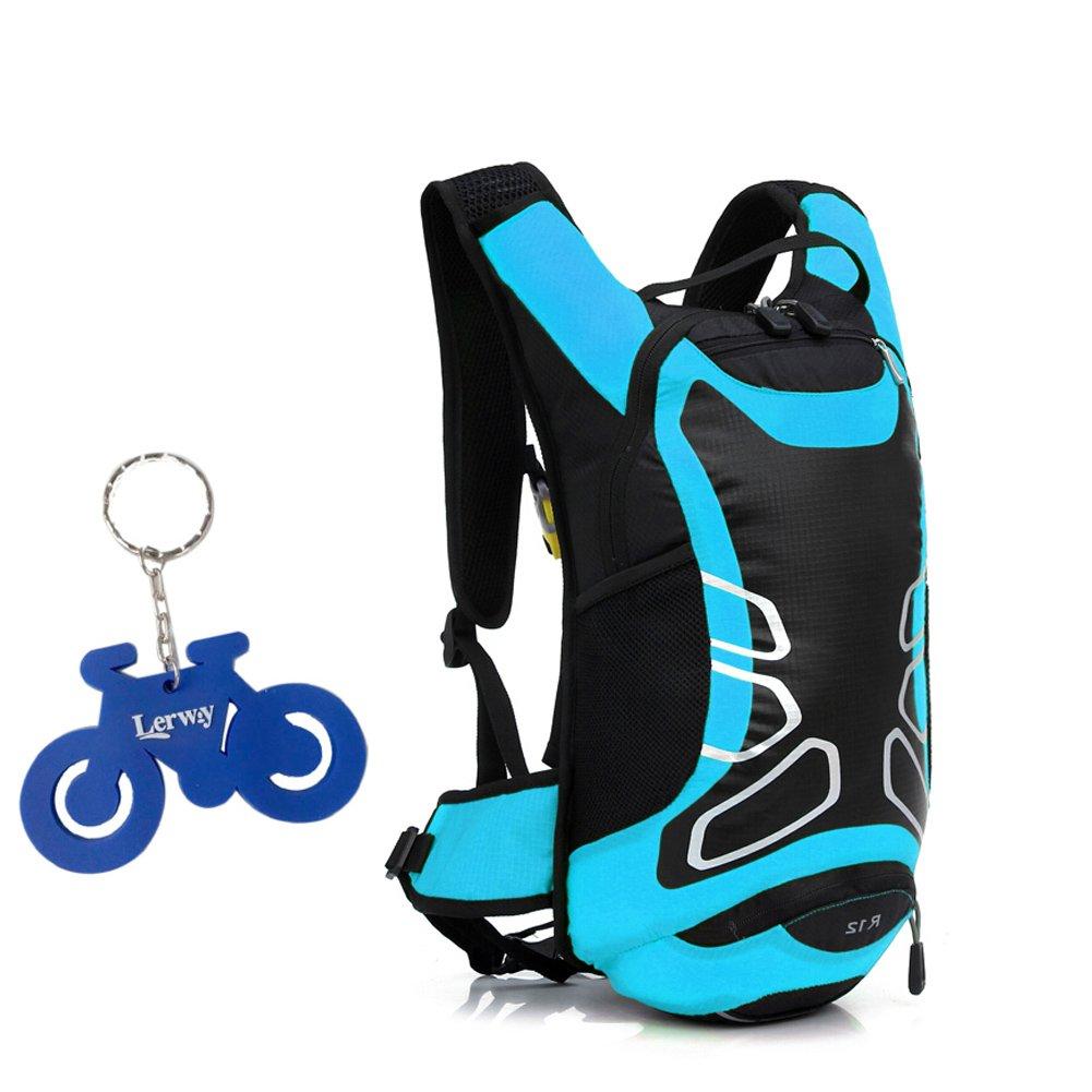 Lerway MTB Bicicleta de la Bici del Montar a Caballo Correr Bolsa de Hombro al Aire Libre Mochila Mochila Impermeable Packsack excursi/ón Que acampa Azul