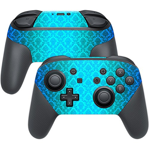 MightySkins Skin Compatible with Nintendo Switch Pro Controller - Blue Vintage | Protective, Durable, and Unique Vinyl Decal wrap Cover | Easy to Apply, Remove, and Change Styles | Made in The USA