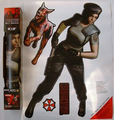 Resident Evil Wall Graffix 2ft+ tall JILL VALENTINE 4 piece (J Jill Tall)