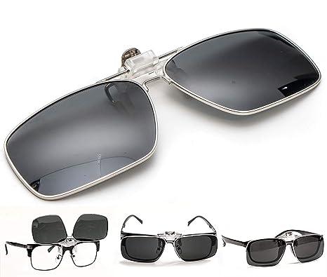 ElementsActive Gafas de sol polarizadas de borde metálico con función de volteo para hombre Grande Negro: Amazon.es: Ropa y accesorios