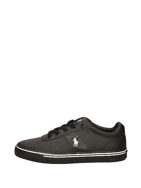 a4ce9783b0 C2172 sneaker uomo POLO RALPH LAUREN HANFORD scarpa nero shoe man