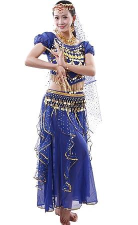 Astage Mujer Danza del Vientre Disfraz Manga Corta Top Faldas ...