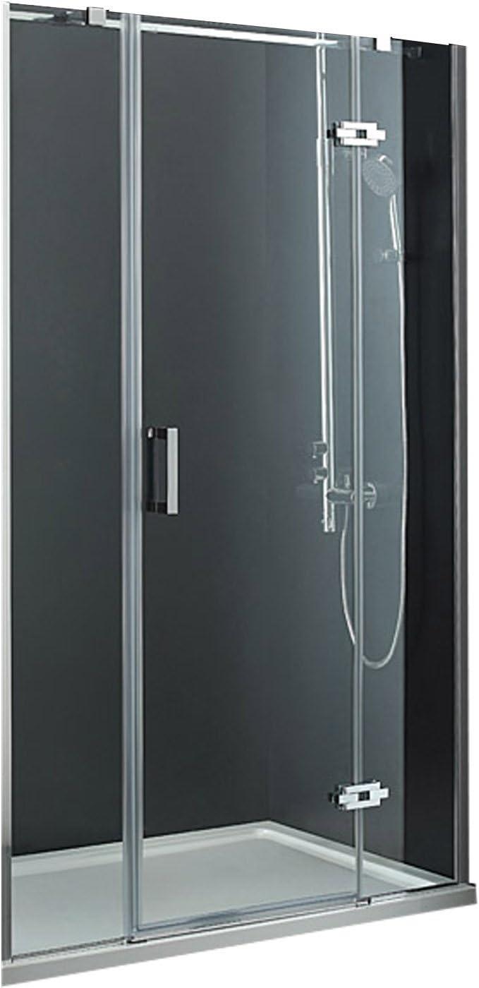 Lux-aqua de diseño de la separación plegables con ducha (8 mm de vidrio 120 cm) MSNP3-120: Amazon.es: Bricolaje y herramientas