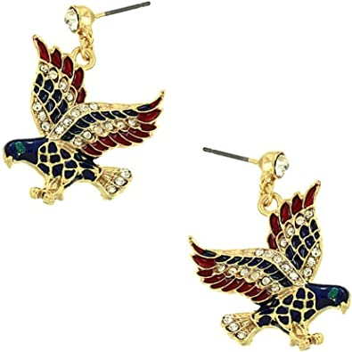 Gold Eagle Earrings Beautifully Detailed