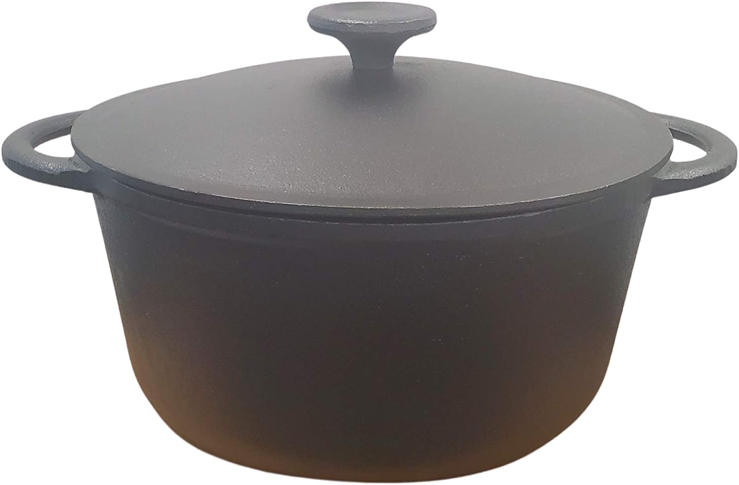 3 Quart Cast Iron Dutch Oven. Pre-Seasoned Pot with Lid and Dual Loop Handle