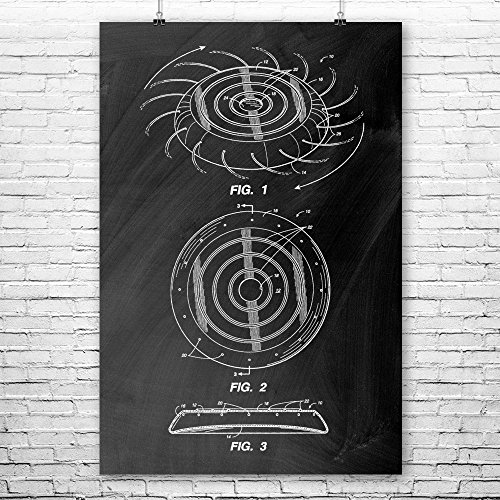 - Patent Earth Frisbee Poster Print, Disc Golf Team, Ultimate Frisbee, College Games, Frisbee Players, Gameroom, Disc Golf Tournament Chalkboard (Black) (24