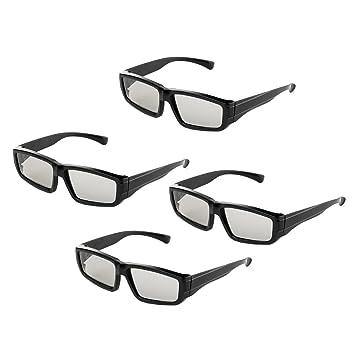 Gafas 3D pasivas Lentes polarizadas circulares para la familia Todas las edades Sony Sharp Toshiba LG