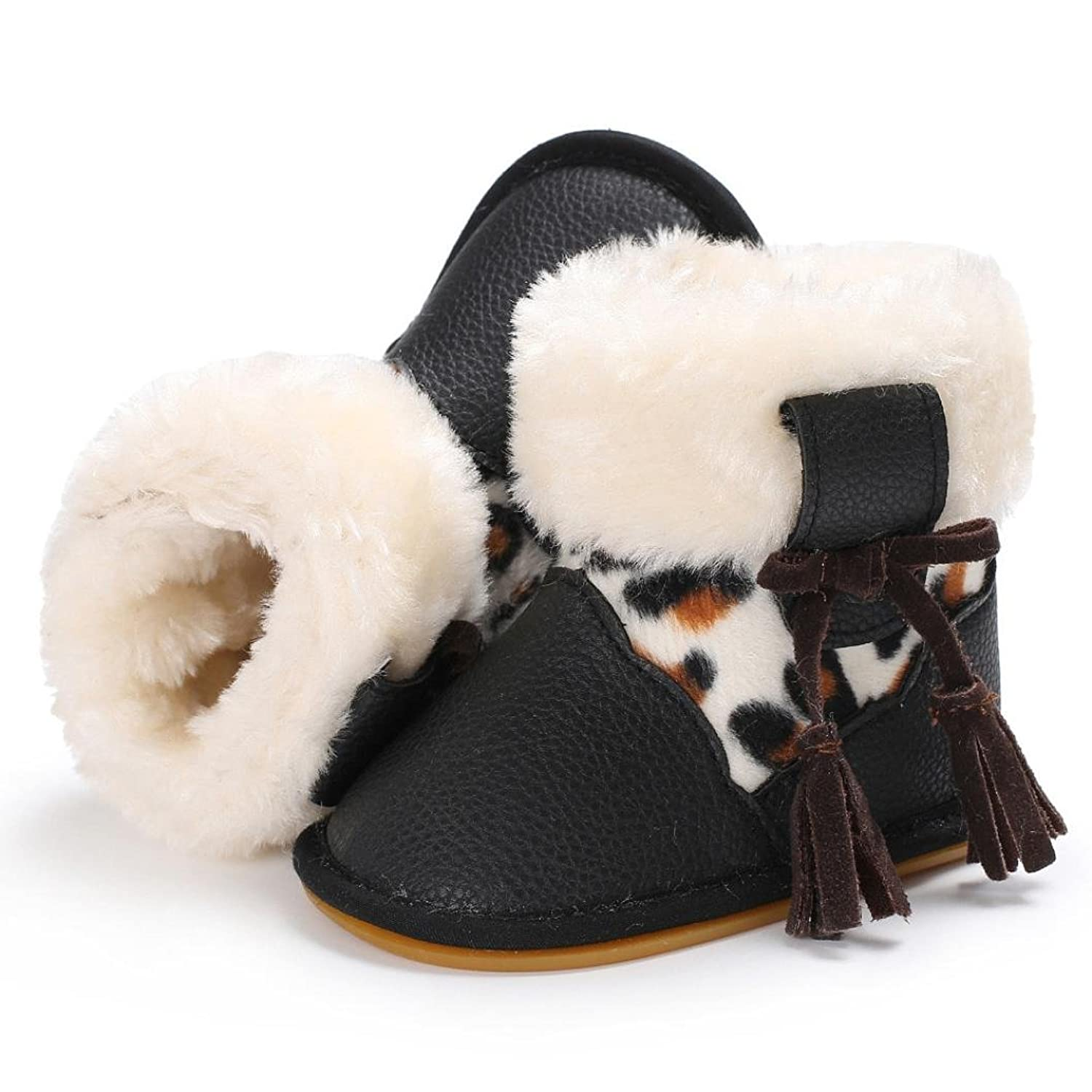 QUINTRA Baby Girl Boy Soft Booties Snow Boots Infant Toddler Newborn  Warming Shoes With Pink White Black Brown Color: Amazon.co.uk: Shoes & Bags
