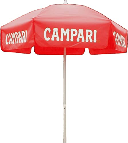 Heininger 1383 Campari Red 6' Bar Height Pole Vinyl Umbrella