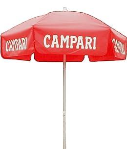 Heininger 1381 Campari Red 6u0027 Vinyl Patio Pole Umbrella
