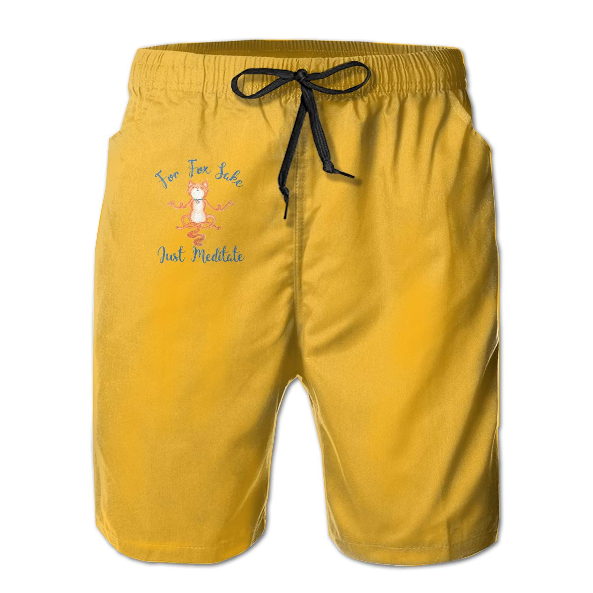 WWT Fox Mens Adjustable Funny Swim Trunks with Mesh Lining//Side Pockets