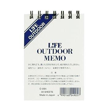 amazon ライフ アウトドア メモ outdoor memo a7 0994 メモ帳