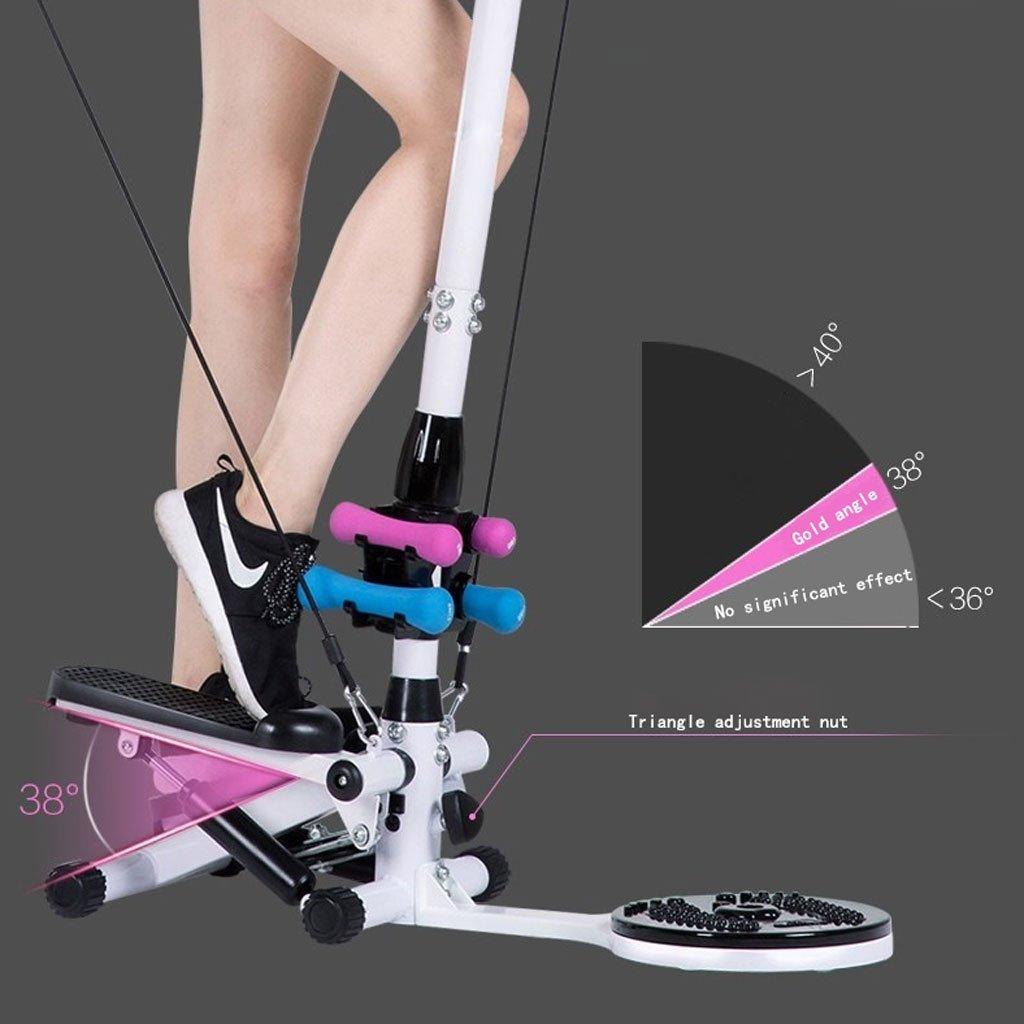 TB Stepper Stepper Multifunktions-Handlauf hydraulische Twist Taille Pedal Gewichtsverlust Geschenk Set Dumbbell Pull Seil Teppich Matte 2 in 1 Dual /Übung Stepper