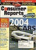 pontiac g6 hot wheel - Consumer Reports Magazine, April 2004
