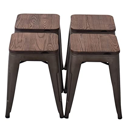 Changjie Furniture 18u0027u0027 High Backless Metal Bar Stool For Indoor Outdoor Kitchen  Counter