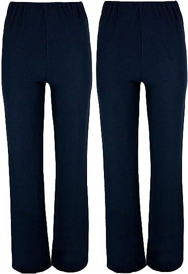 NewLadies Women High Waist Straight Causal Button Trousers New Design Sizes 8-26