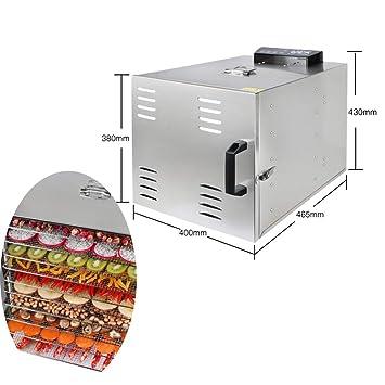 WEIGZ Secadora de Frutas secas de Acero Inoxidable de Alimentos y Frutas desecadora máquina de Secado de Aire: Amazon.es