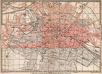 Berlin Mitte Karte.Berlin Mitte Schlüssel Karte Antik Town City Innere Stadtplan Karte