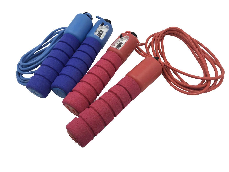 Sotastic ジャンプロープ カウンター ソフトハンドル クロスフィット ワークアウト ホームボクシングエクササイズツール ブルーレッド 大人と子供に調節可能   B07GDCMT6S