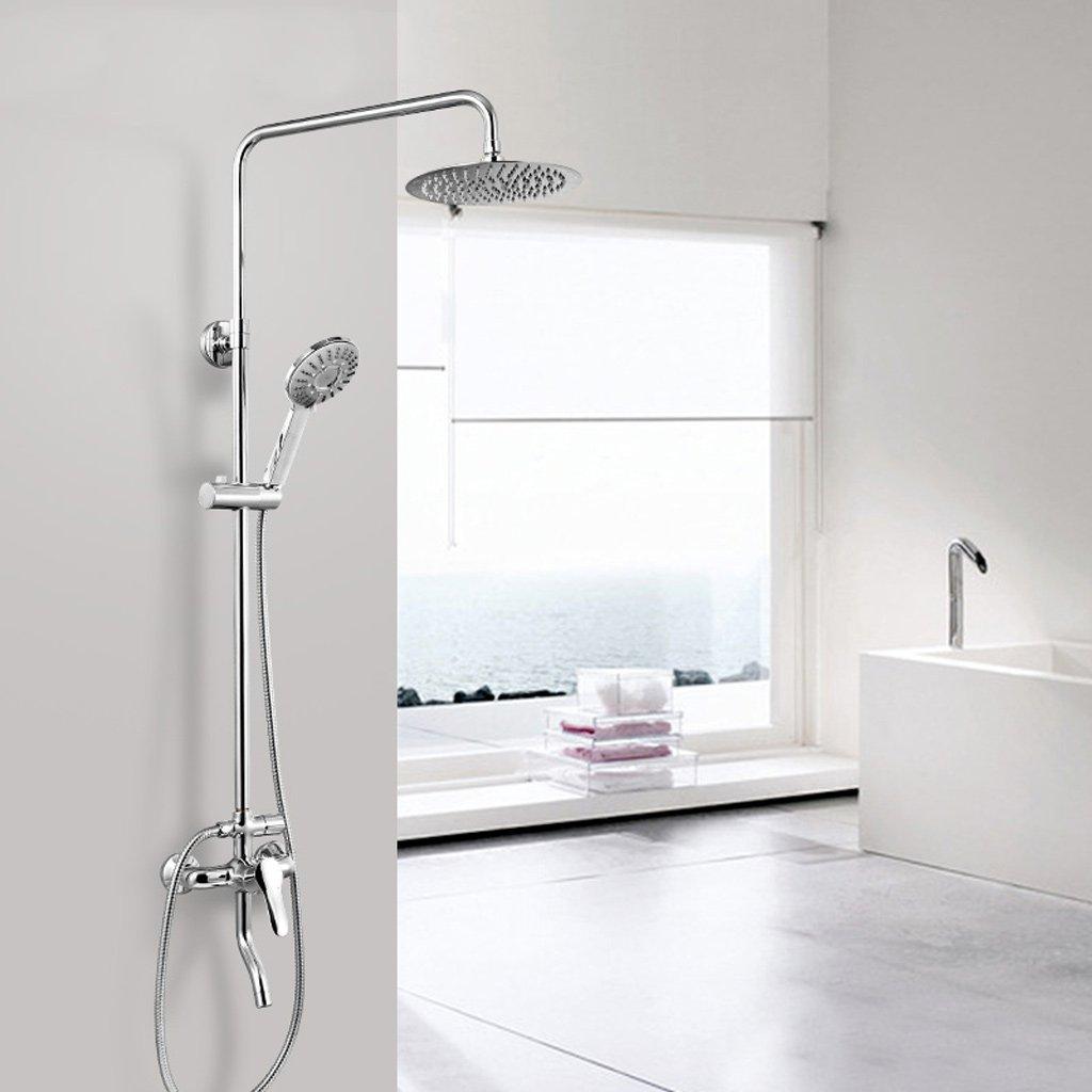 In acciaio inox Set doccia superiore a spruzzo testa compressore palmare