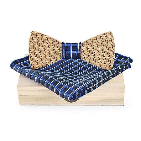 Feliz-l Hermosa pajarita de madera para mujer de los hombres en ...