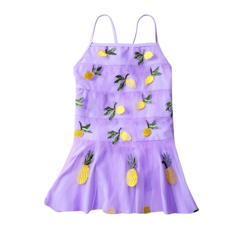 Color : Pink, Size : XXXL FeliciaJuan Kids Beach Sport Banded One Piece Swimsuit Girl Lace Net Yarn One-Piece Swim Skirt