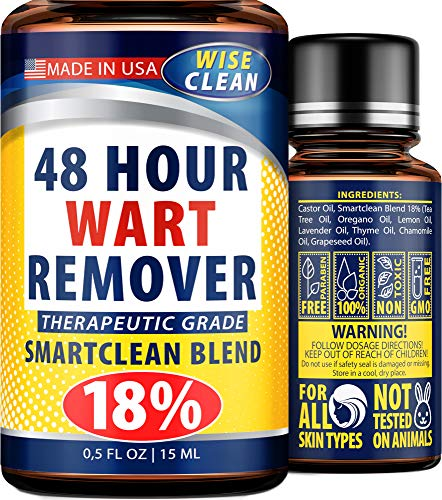 Gentle Wart Removal - USA Made - 48h Action Wart Treatment - Genital, Common, Plantar Wart Remover - Naturally Removes Warts - Wart Liquid for More Efficacy Than Wart Stick - Fast & Lasting Result