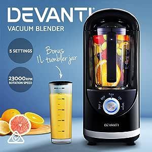 Devanti Vacuum Blender Commercial Juicer Mixer Food Processor Smoothie Black