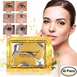 30 pairs of 24K Gold Powder Crystal Gel Collagen Eye Masks | For Anti-Aging & Moisturizing; Reducing Dark Circles, Puffiness, Wrinkles | By L'Amour